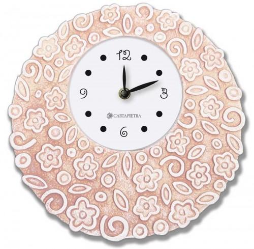 Orologio profumato rotondo Prati in fiore rosa Ø 22 cm pb022ra Cartapietra