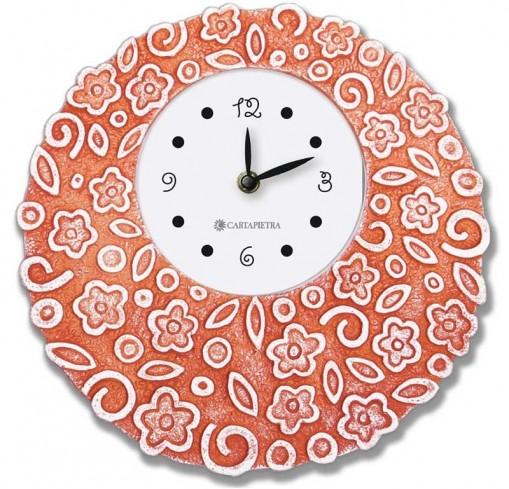 Orologio profumato rotondo Prati in fiore rosso Ø 22 cm pb022ro Cartapietra