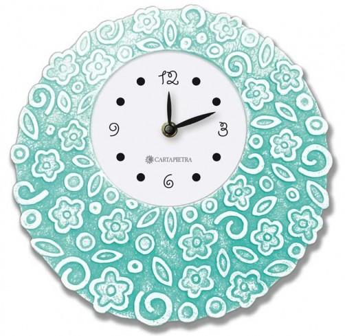Orologio profumato rotondo Prati in fiore tiffany Ø 22 cm pb022ty Cartapietra