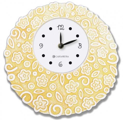 Orologio profumato rotondo Prati in fiore giallo Ø 22 cm pb022gi Cartapietra