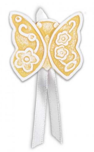 Magnete profumato farfalla con nastro Prati in fiore giallo pbm08fgi Cartapietra