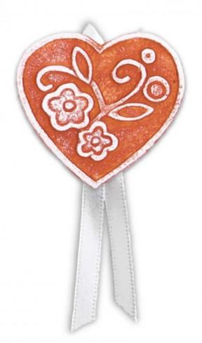Magnete profumato cuore con nastro Prati in fiore rosso pbm08cro Cartapietra