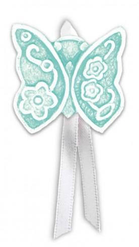 Magnete profumato farfalla con nastro Prati in fiore tiffany pbm08fty Cartapietra