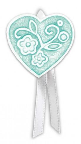 Magnete profumato cuore con nastro Prati in fiore tiffany pbm08cty Cartapietra