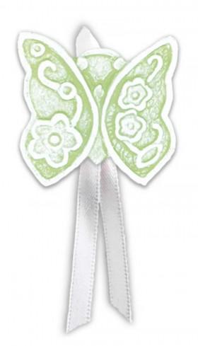 Magnete profumato farfalla con nastro Prati in fiore verde pbm08fve Cartapietra