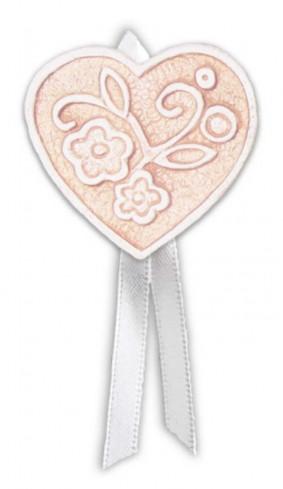 Magnete profumato cuore con nastro Prati in fiore rosa pbm08cra Cartapietra