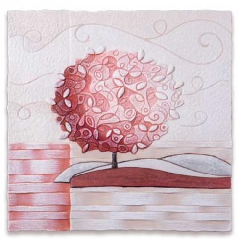 Formella Un nuovo orizzonte Corallo 40 x 40 cm 1104116cr Cartapietra