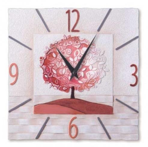 Orologio Un nuovo orizzonte Corallo 40 x 40 cm 44016cr Cartapietra