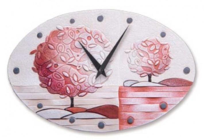 Orologio ovale Un nuovo orizzonte Corallo 40 x 25 cm 43516cr Cartapietra