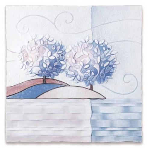 Formella Un nuovo orizzonte Iris 40 x 40 cm 1104216ir Cartapietra