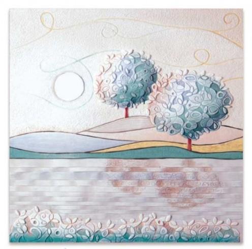 Quadro Un nuovo orizzonte Tè 60 x 60 cm 1006216tè Cartapietra