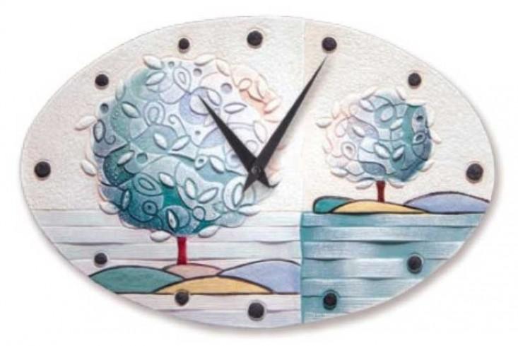 Orologio ovale Un nuovo orizzonte Tè 40 x 25 cm 43516tè Cartapietra