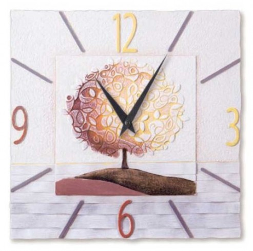 Orologio Un nuovo orizzonte Spezie 40 x 40 cm 44016sp Cartapietra