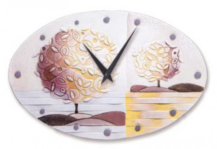 Orologio ovale Un nuovo orizzonte Spezie 40 x 25 cm 43516sp Cartapietra