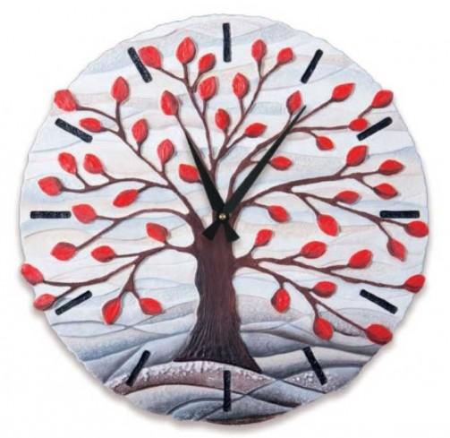 Orologio sagomato Albero della vita Rosso Ø 45 cm 44501ro Cartapietra