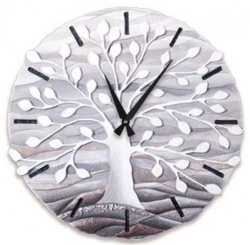 Orologio sagomato Albero della vita Bianco Ø 45 cm 44501ba Cartapietra