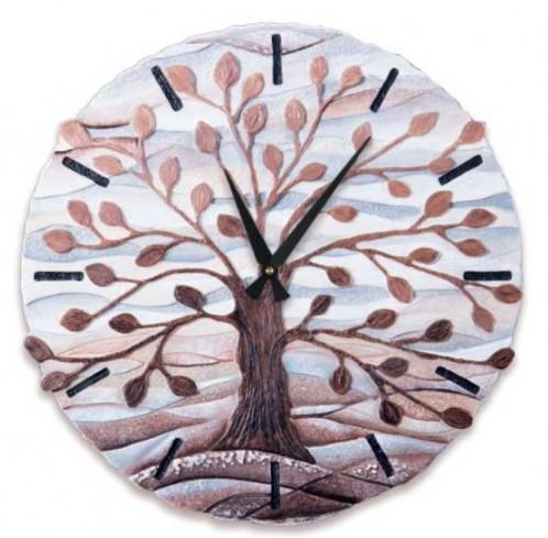 Orologio sagomato Albero della vita Cioccolato Ø 45 cm 44501co Cartapietra