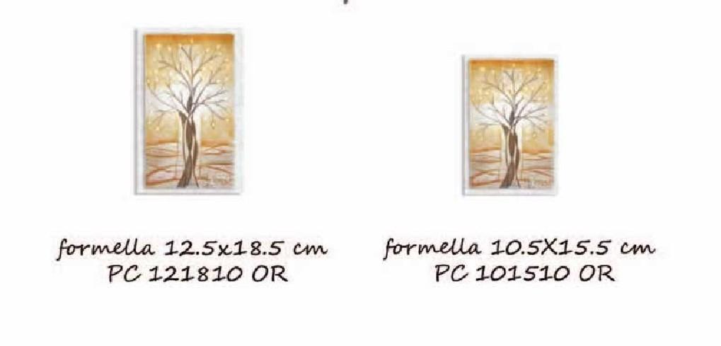 Formella Il seme della Fede Oro Piccoli capolavori Caelum Cartapietra