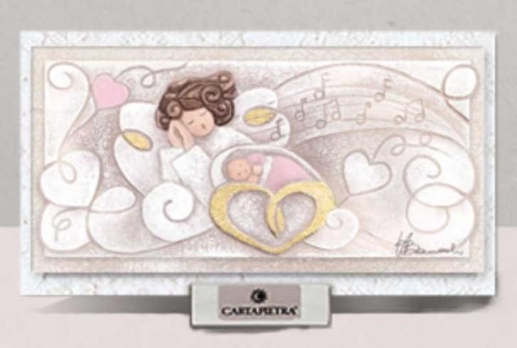 Formella Melodia d'amore rosa Piccoli capolavori Cartapietra
