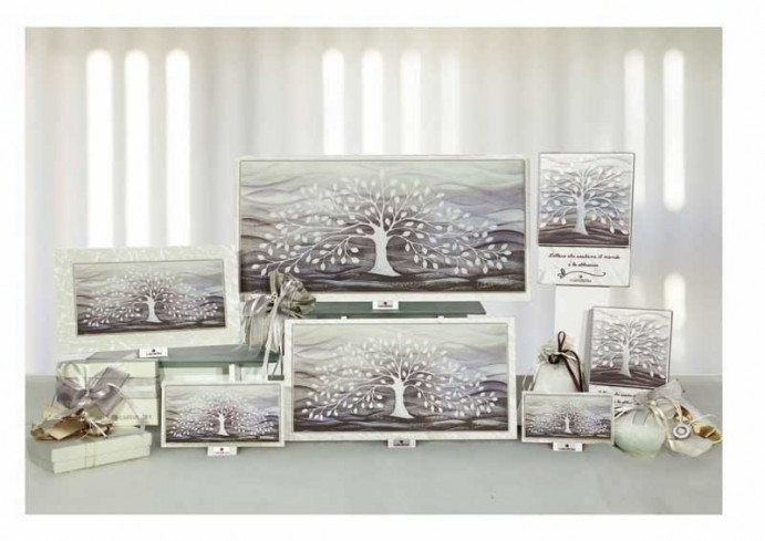 Formella Albero della vita bianco Piccoli capolavori Anima Mundi Cartapietra
