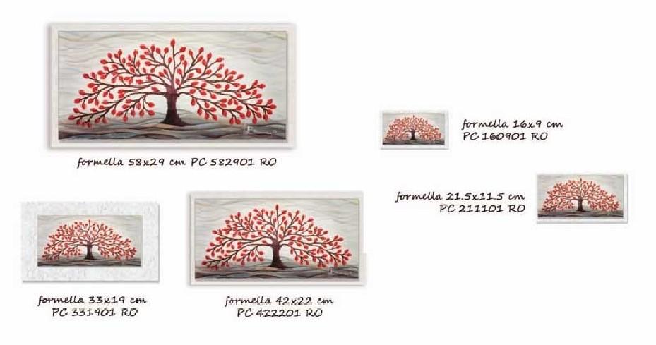 Formella Albero della vita rosso Piccoli capolavori Anima Mundi Cartapietra
