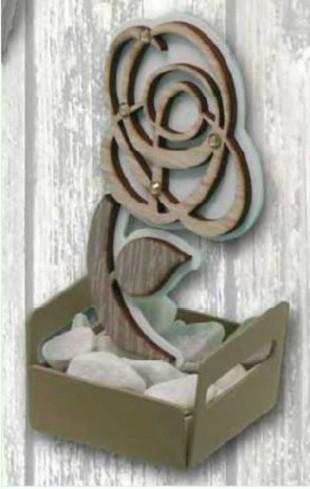 Profumatore in metallo con particolare Fiore in doppio legno + strass NPP-05 Piccoli Profumi 019 Negò