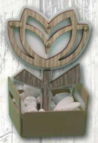 Profumatore in metallo con particolare Tulipano in doppio legno + strass NPP-03 Piccoli Profumi 019 Negò