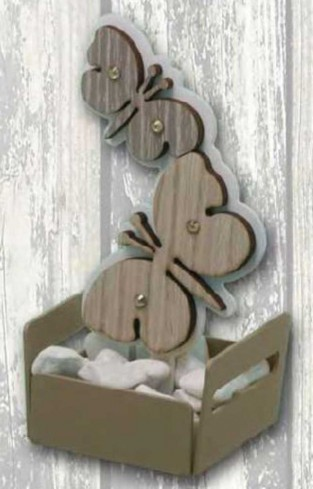 Profumatore in metallo con particolare Farfalla in doppio legno + strass NPP-01 Piccoli Profumi 019 Negò