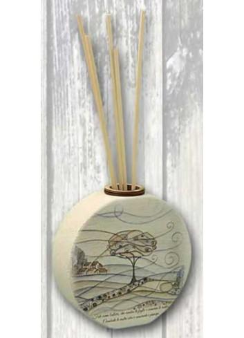 Profumatore rotondo in ceramica con stampa a colori Paesaggio PAC-B Paesaggio ceramica Negò