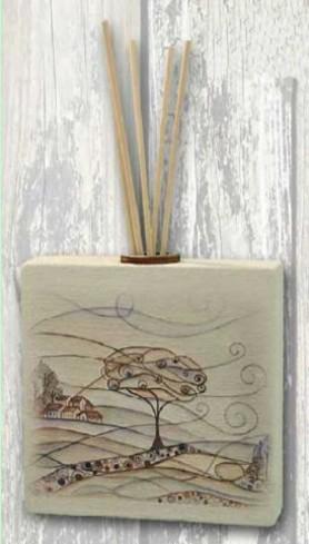 Profumatore quadrato in ceramica con stampa a colori Paesaggio PAC-03-08-06 Serie Paesaggio ceramica Negò