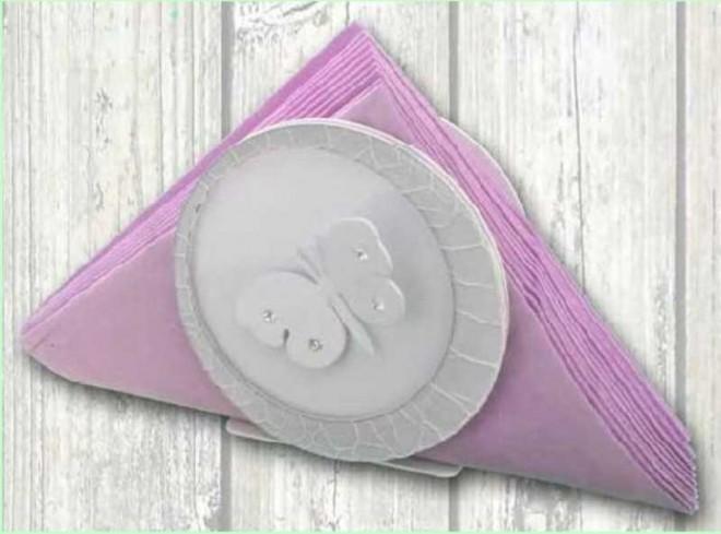 Portacarte in metallo bianco e grigio con applicazione farfalla con strass EVA-04 Serie Eva Negò