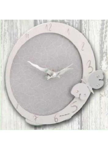 Orologio in metallo bianco e grigio con applicazione farfalla con strass EVA-03/08 Eva Negò
