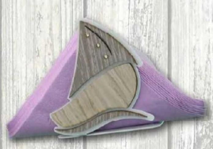 Portacarte Barca in metallo bianco e legno con strass SBL-04 Barca Legno Negò