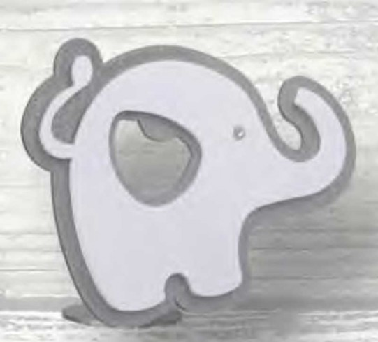 Apribottiglie Elefante in metallo bianco e grigio chiaro da appoggio ST-184 Stappo 018 - ST Negò