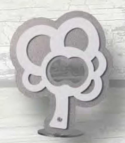 Apribottiglie Albero in metallo bianco e grigio chiaro con piedistallo PL-188 Stappo 018 - PL Negò