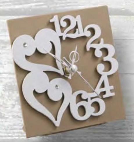 Orologio in metallo da appoggio con strass e cuori ANT-03/08/06 Anthea Negò