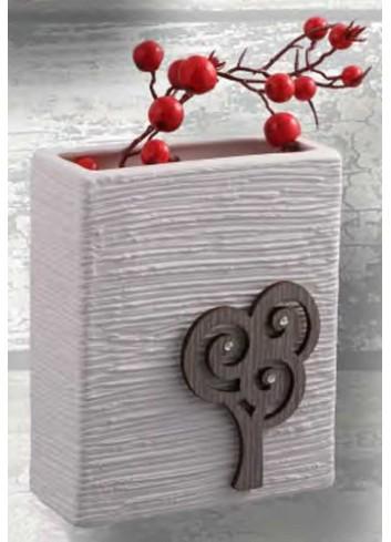 Portamestoli in ceramica con bonsai in legno e strass BON-10 Bonsai Negò