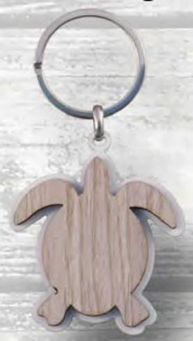 Portachiavi Tartaruga in metallo e legno PC-32 Serie Portachiavi Legno Negò