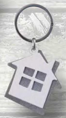 Portachiavi doppio Casa in metallo PC-19 Portachiavi 018 Negò