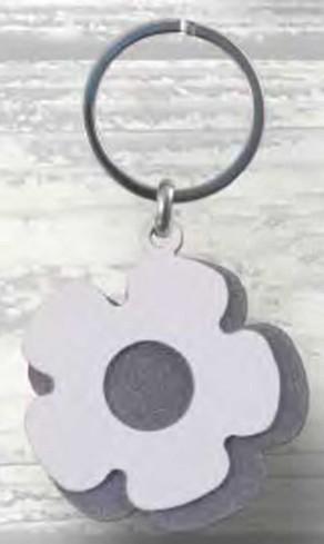 Portachiavi doppio Fiore in metallo PC-17 Serie Portachiavi 018 Negò