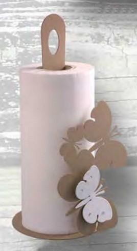 Portarotolo in metallo con farfalla magnete e strass Strass FLY-06 Negò