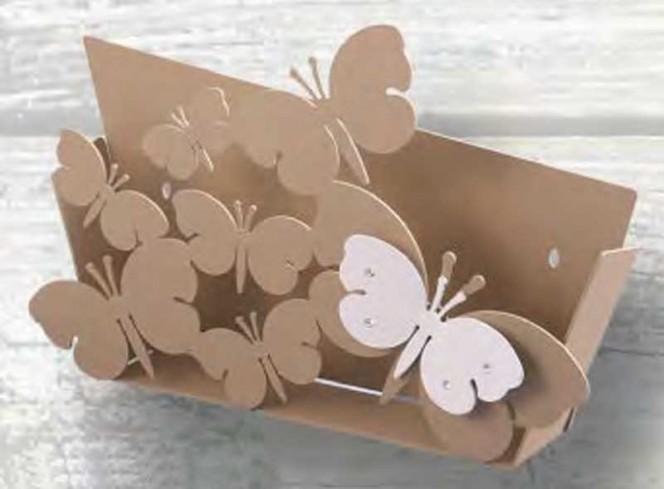 Portalettere in metallo con farfalla magnete e strass Strass FLY-04 Negò