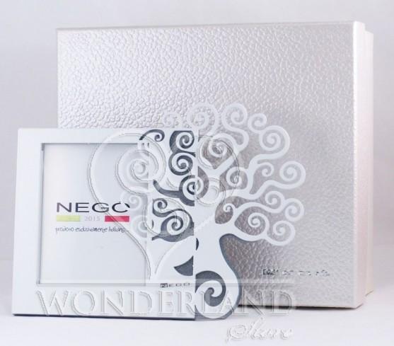 Portafoto Albero della vita in metallo bianco e silver con strass AV-01/1-2-3 Natura Negò