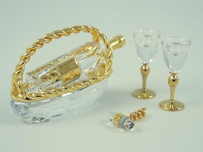 Servizio da vino decorazioni oro 235676 anno 2005 Swarovski