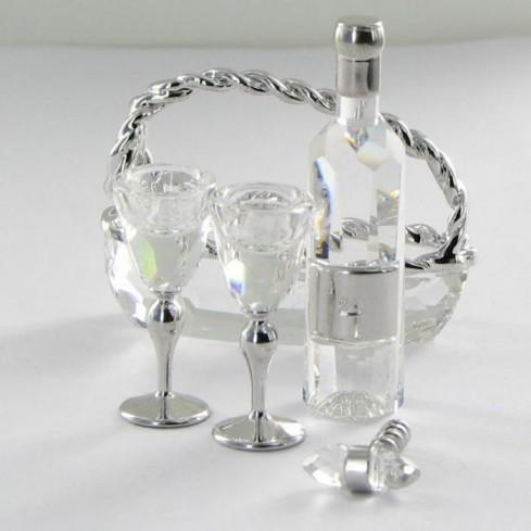 Servizio da vino decorazioni argento 626855 anno 2005 Swarovski
