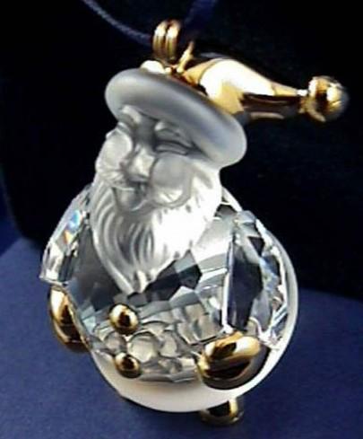 Babbo Natale con dettagli oro 665031 anno 2006 Swarovski