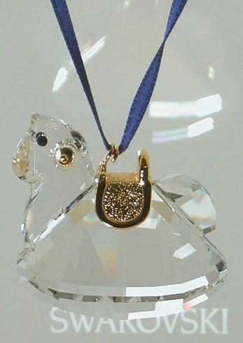 Cavallo a dondolo dettagli oro 842759 anno 2006 Swarovski