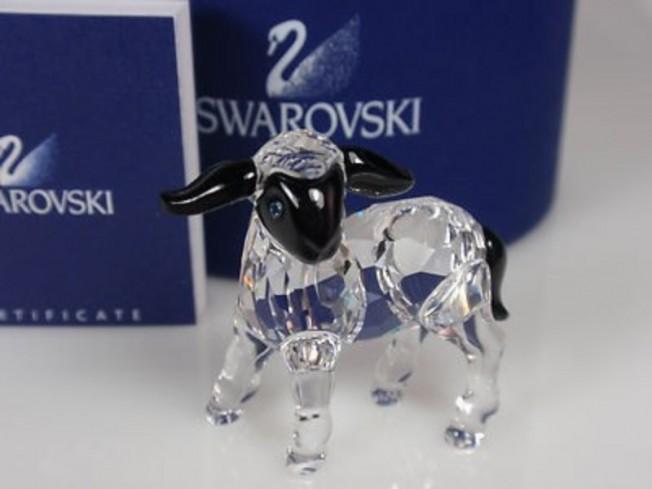 Agnellino con musetto nero 654305 anno 2007 Swarovski