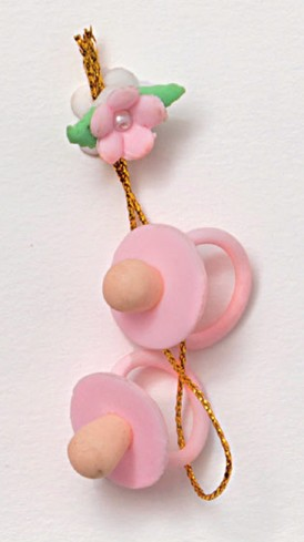 Ciucci con fiorellino rosa 130355-2 Sweet Baby Ad Emozioni