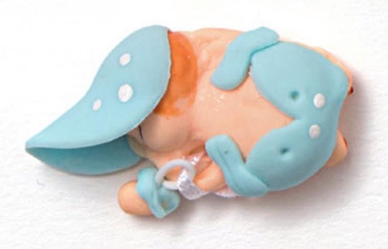 Bimbetto che dorme azzurro 130351-3 Sweet Baby Ad Emozioni